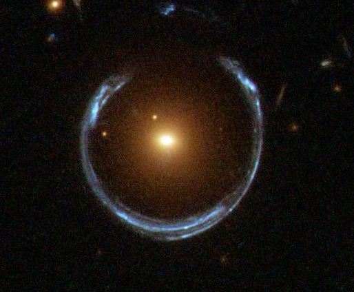 A_Horseshoe_Einstein_Ring_from_Hubble - Public domain